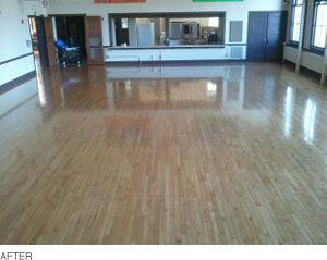 Wood Floors after cleaning, polishing, and sealing