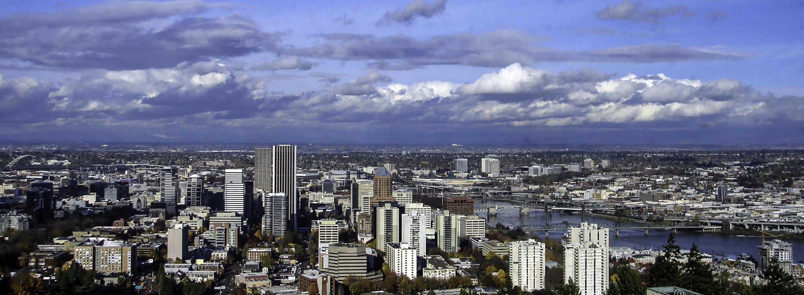 Portland Oregon skyline cityscape